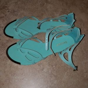 Mint wedge sandals